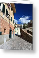 urban scene in Bogliasco Greeting Card