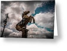 Urban Sky Horse Greeting Card