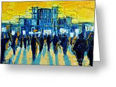 Urban Story - The Romanian Revolution Greeting Card