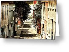 Urban Street Scene Alleyway Photograph Greeting Card