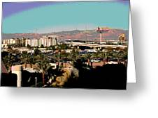 Urban West Expanded Greeting Card by Sharon McLain