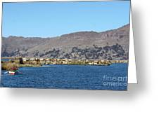 Uros Floating Island Village Greeting Card