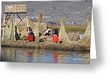 Uros Village Greeting Card
