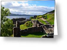 Urquhart Castle Ruins Greeting Card