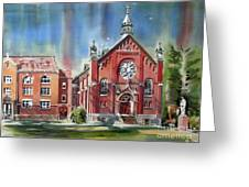 Ursuline Academy With Doves Greeting Card