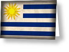 Uruguay Flag Vintage Distressed Finish Greeting Card