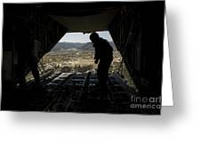 U.s. Air Force Airman Pushes Greeting Card by Stocktrek Images