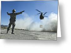 U.s. Air Force Master Sergeant Guides Greeting Card