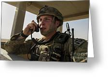 U.s. Air Force Soldier Communicates Greeting Card
