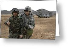 U.s. Army Commander, Right Greeting Card