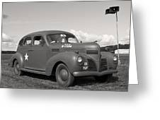 Us Army Dodge Staff Car Greeting Card