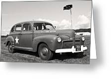 Us Army Ford Staff Car  Greeting Card