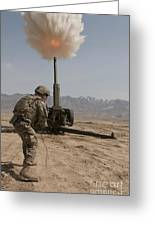 U.s. Army Soldier Fires A 122mm Greeting Card