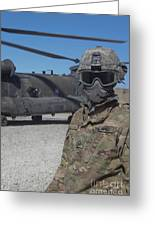 U.s. Army Soldier Stands Ready To Load Greeting Card