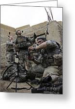 U.s. Army Soldiers Set Up A Tactical Greeting Card