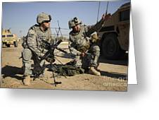 U.s. Army Soldiers Setting Greeting Card by Stocktrek Images
