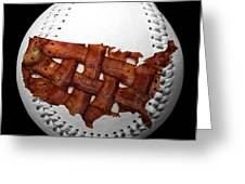 Us Bacon Weave Map Baseball Square Photograph By Andee Design - Us baseball map