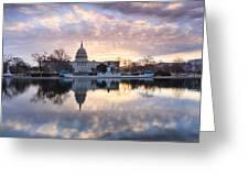 Washington Dc Us Capitol Building At Sunrise Greeting Card