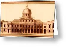 U.s. Capitol Design 1791 Greeting Card