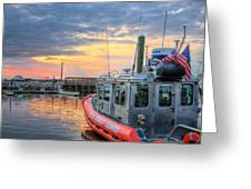 Us Coast Guard Defender Class Boat Greeting Card