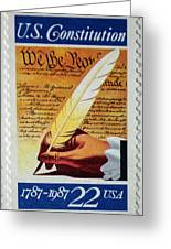 Us Constitution Stamp Greeting Card