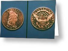 U.s. Currency, 1796 Greeting Card