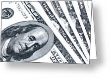 Us Dollar Bills  Greeting Card