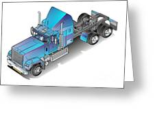 Us Heavy Truck Greeting Card