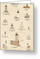 Lighthouses Of The West Coast Greeting Card