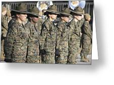 U.s. Marine Corps Female Drill Greeting Card