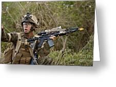 U.s. Marine Corps Machine Gunner Greeting Card