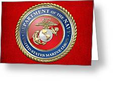 U. S. Marine Corps - U S M C Seal  Greeting Card