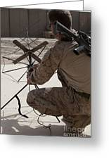 U.s. Marine Repositions A Satellite Greeting Card by Stocktrek Images