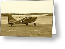 U.s. Military Recon Single Engine Plane Greeting Card