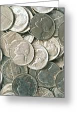 U.s. Nickels Greeting Card
