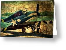 Us Ww II Grumman F4f Wildcat Fighter Plane Greeting Card