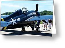 Us Ww II Fighter Plane Greeting Card