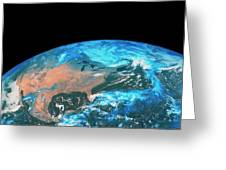 Usa & Mexico From Space Greeting Card