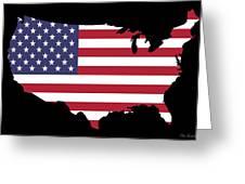 Usa And Flag Greeting Card