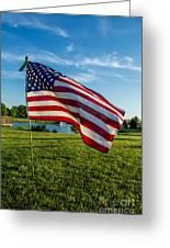 Usa Flag Greeting Card by Phyllis Bradd