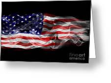 Usa Flag Smoke  Greeting Card
