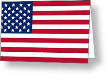 Usa Flag Greeting Card by Tilen Hrovatic