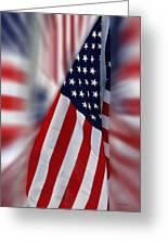 Usa Flags 03 Greeting Card