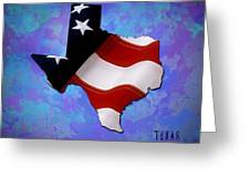 Usa Flagtexas State Digital Artwork Greeting Card