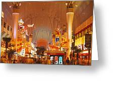 Usa, Nevada, Las Vegas, Night Greeting Card