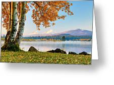 Usa, Oregon, Bend, Fall At Black Butte Greeting Card