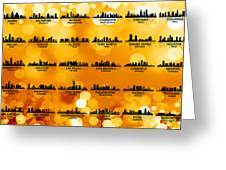 Usa Skylines 3 Greeting Card