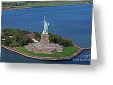 Usa Statue Of Liberty Greeting Card by Lars Ruecker