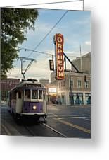 Usa, Tennessee, Vintage Streetcar Greeting Card