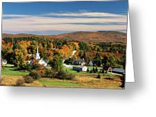 Usa, Vermont, Northeast Kingdom, View Greeting Card